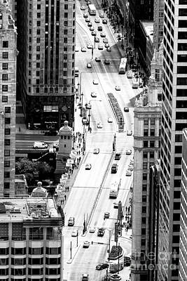 Skyscapers Photograph - Retro Streets Of Chicago by John Rizzuto