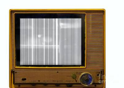 Photograph - Retro Style Television Set With Picture Problems by Yali Shi