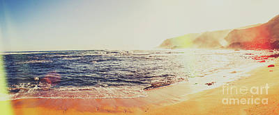 Water Filter Photograph - Retro Tasmanian Beach Panorama by Jorgo Photography - Wall Art Gallery