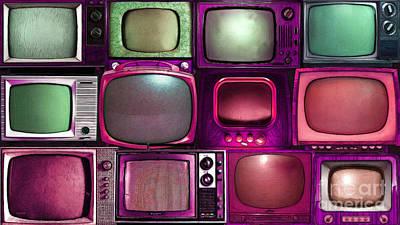 Long Size Digital Art - Retro Television Marathon 20150928long V2 M68 by Wingsdomain Art and Photography