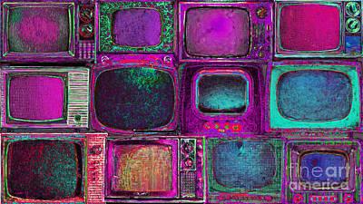 Long Size Digital Art - Retro Television Marathon 20150928longm68 by Wingsdomain Art and Photography