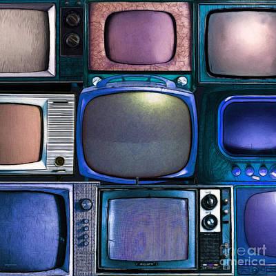Retro Television Marathon 20150928square V2 P180 Art Print