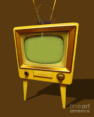 Photograph - Retro Television With Rabbit Ears 20150905 by Wingsdomain Art and Photography