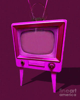 Photograph - Retro Television With Rabbit Ears 20150905 Ym108 by Wingsdomain Art and Photography