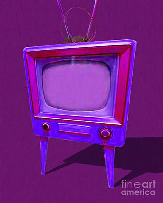 Photograph - Retro Television With Rabbit Ears 20150905 Ym150bc by Wingsdomain Art and Photography