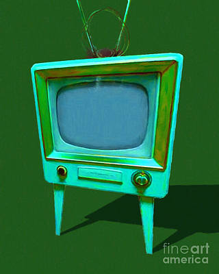 Photograph - Retro Television With Rabbit Ears 20150905 Yp128 by Wingsdomain Art and Photography