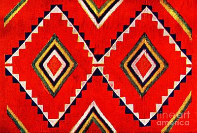 Photograph - Retro Textile Design 1900 by Padre Art