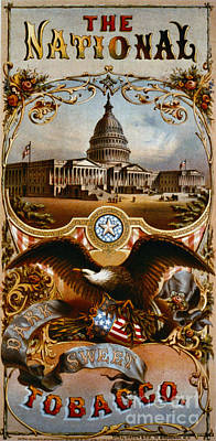 Retro Tobacco Label 1868 A Art Print