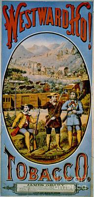 Photograph - Retro Tobacco Label 1868 E by Padre Art