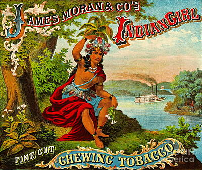 Steamboat Photograph - Retro Tobacco Label 1874 B by Padre Art
