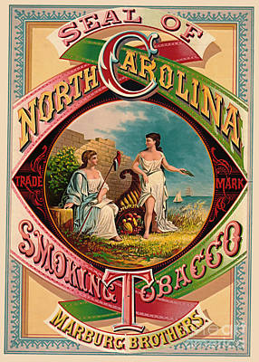 Photograph - Retro Tobacco Label 1879 by Padre Art