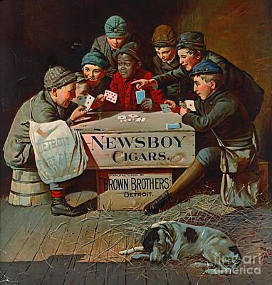 Photograph - Retro Tobacco Label 1894 by Padre Art