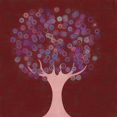Mixed Media - Retro Tree Art by Dan Sproul