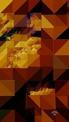 Painting - Retro Triangle Art by Sheila Mcdonald