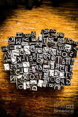 Retro Typesetting In Print Art Print by Jorgo Photography - Wall Art Gallery