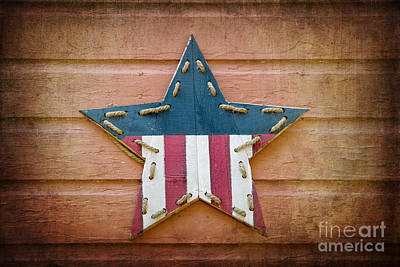 4th July Photograph - Retro Usa Star by Jane Rix