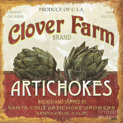 Agriculture Painting - Retro Veggie Labels 1 by Debbie DeWitt