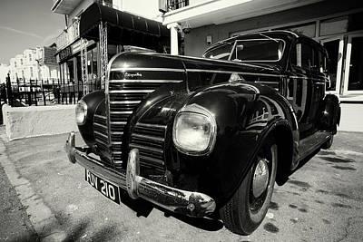 Photograph - Retro Vintage Chrysler In Black And White by John Williams