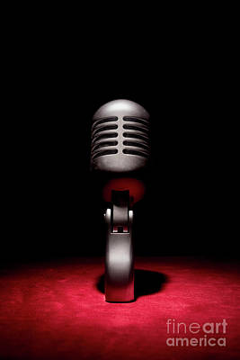 Photograph - Retro Vintage Microphone 001 by Clayton Bastiani