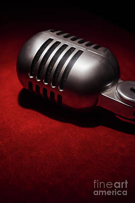 Photograph - Retro Vintage Microphone 002 by Clayton Bastiani