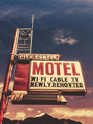 Americana Wall Art - Photograph - Retro Vintage Motel Sign by Mr Doomits