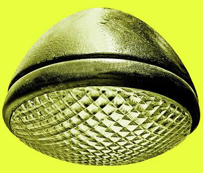 Photograph - Retro Yellow Headlight by Tony Grider