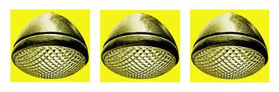 Photograph - Retro Yellow Headlight Trio by Tony Grider