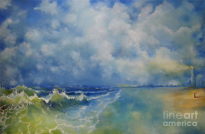 Painting - Retrospection Seascape by Maja Sokolowska