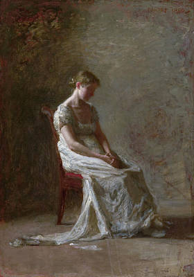 Profile Painting - Retrospection by Thomas Eakins