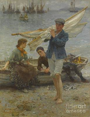 Painting - Return From Fishing by Celestial Images