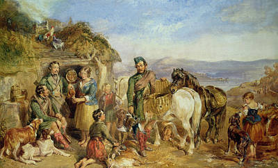 The Hen Painting - Return From The Shoot by John Frederick Tayler