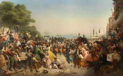 Return Of The 69th Irish Regiment From The 1st Battle Of Bull Run Print by Mountain Dreams