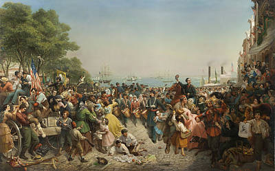 Oil Painting - Return Of The 69th Irish Regiment by Celestial Images
