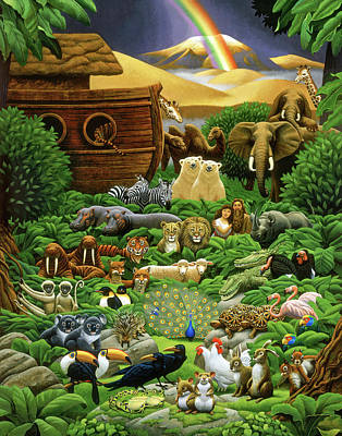 Wall Art - Painting - Return Of The Ark by Chris Miles