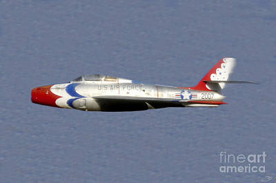 Thunder Painting - Return Of The F 84 by David Lee Thompson