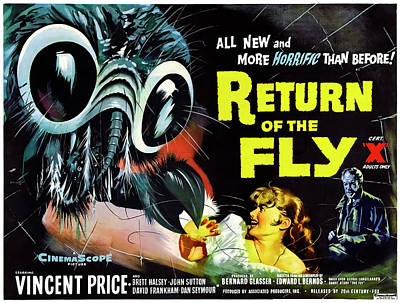 Horror Movies Photograph - Return Of The Fly Lobby Promotion  1959 by Daniel Hagerman