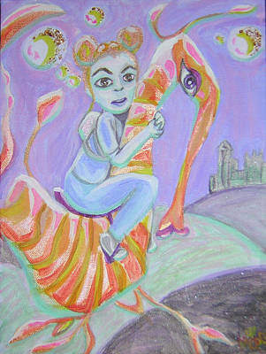 Return Of The Prodigal Water Baby Art Print by Michelley QueenofQueens