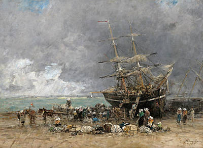 Painting - Return Of The Terre-neuvier by Eugene Boudin