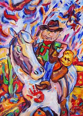 Painting - Return Of Wild Boy Jimmy by Dianne  Connolly
