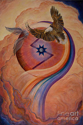 Spiritual Warrior Painting - Return To Center  by Jeanette Sacco-Belli