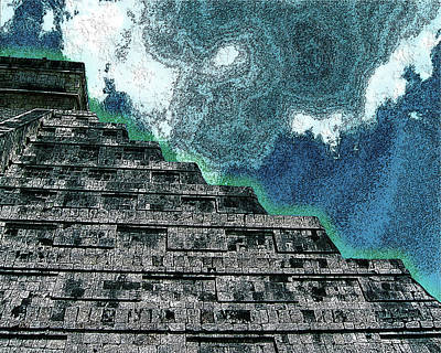 Digital Art - Return To Chichen Itza by Mike Braun