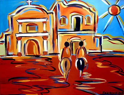 Painting - Return To The Mission by Jan Oliver-Schultz