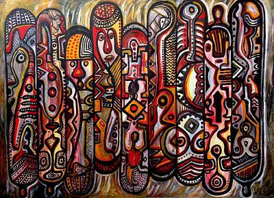 Immaterial Painting - Return To The Origin by Mbonu Emerem