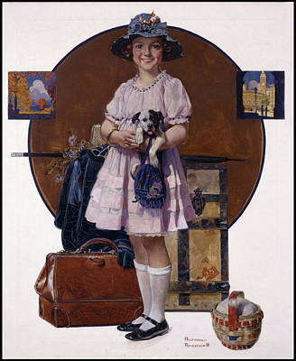 Painting - Returning From Summer Vacation by Norman Rockwell