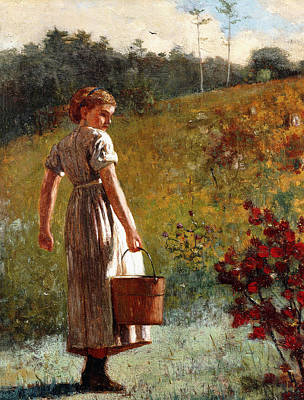 Fetch Painting - Returning From The Spring by Winslow Homer