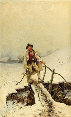Painting - Returning Home by Adolf Liebscher