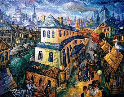Roussimoff Wall Art - Painting - Returning Home From Synagogue by Ari Roussimoff