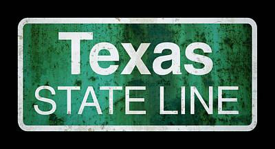 Back Road Digital Art - Returning Home To Texas . . . by Daniel Hagerman