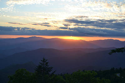 Photograph - Returning Sunset Great Smoky Mountains by RD Erickson