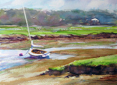 Painting - Returning Tide - Essex by Carl Whitten